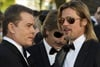 Brad chats with his Killing Them Softly co-sta Ray Liotta on the red carpet.