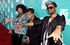 Party rockers LMFAO won Best Music for their song Party Rock Anthem from 21 Jump Street.