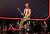 Joe Manganiello, who plays a male stripper in the upcoming movie Magic Mike, wears a firefighter costume onstage.