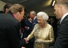 Andrew Lloyd Webber gets his audience with Her Majesty.