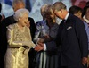 Queen Elizabeth II seemed visibly moved by the tributes paid to her by her family and the thousands who flocked to the palace to celebrate her 60th year on the throne.