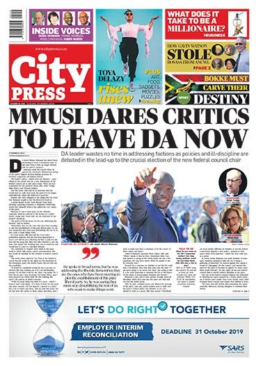 What's in City Press: How Gavin Watson stole Bosasa from ANCWL; Winnie's legacy in tatters; Maimane dares critics to leave DA | City Press
