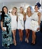 Natalie Becker, Minki van der Westhuizen, Melinda Bam, Roxy Louw and Jo-Ann Strauss at the L'Ormarins Queens Plate at the Kenilworth race course in January. (Photo: Gallo Images)