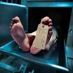 Corpse awaiting burial.
