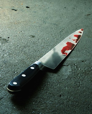 Bloody knife. (iStock)