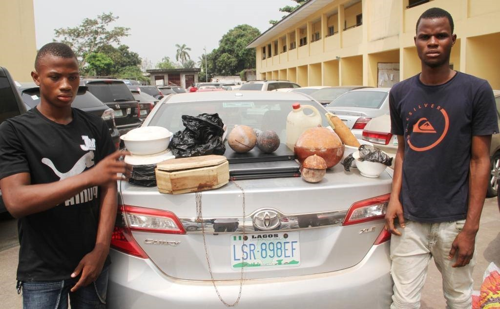 Some suspected Yahoo Boys Paraded In Lagos