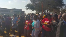 WATCH: Communication Workers Union members protest outside MTN