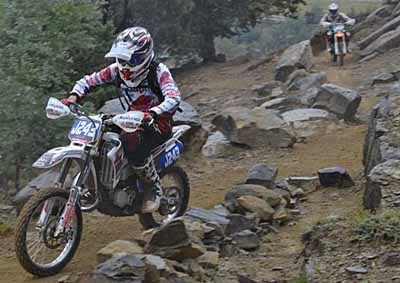 <b>ROUGH AND ROCKY ROAD:</b> Dean Lindsay (Yamaha) won from Keagan Coetzee (KTM), who had to dig deep in the Junior Roof too score his first podium place in this class.