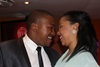 Contestant Lwazi Mngoma and his fiancée Michelle Pinto share a moment.