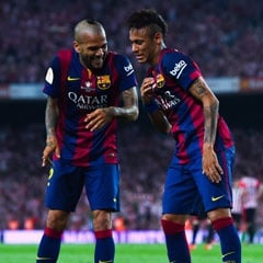 soccer, barcelona, neymar, dani alves, getty image