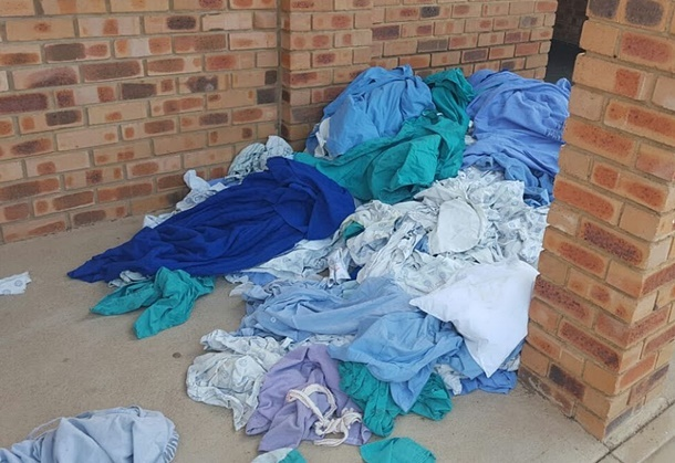 dirty bedding, KwaMhlanga hospital
