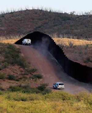 US Border Patrol agents patrol the border with Mexico. (File, AP)