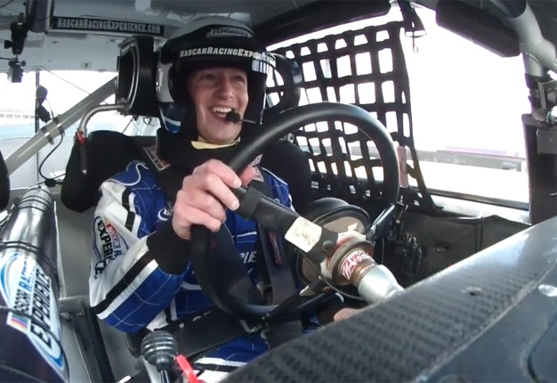 <B>GO MARK GO!</B> Mark Zuckerberg exchanged his office for a drive a Nascar race car. <I>Image: Facebook</I>