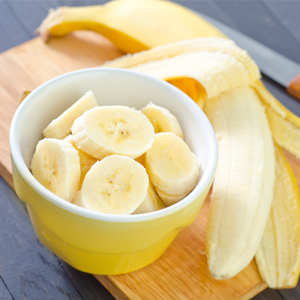 A medium banana packs 27g of carbs, which is more than two slices of white bread.