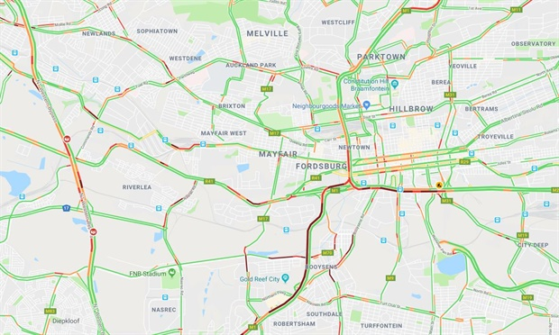 Johannesburg traffic not looking good for commuters who have to make their way into work