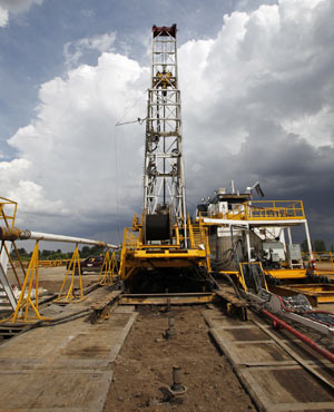 Fracking rig. (AP Photo/Ed Andrieski, File)