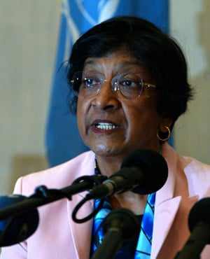 The UN rights chief Navi Pillay.