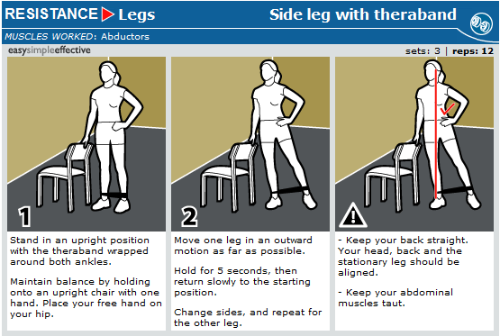 side leg with theraband