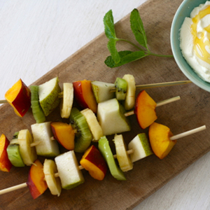 frozen fruit skewers recipe