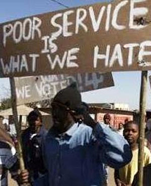Service delivery protest.