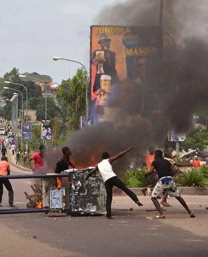 Protesters in 2016, in the city of Kinshasa, Democratic Republic of Congo. (John Bompengo, AP)