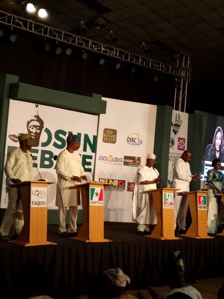 Osun governorship debate