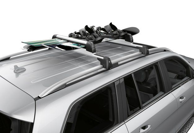 Lockable rear mounted cycle rack for secure transport of for Mercedes benz gl450 ski rack