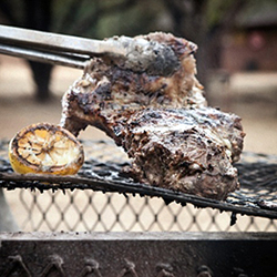 greek style lamb on the braai