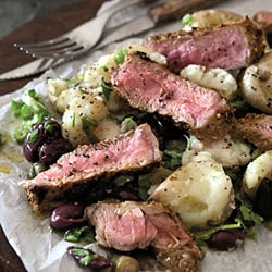 sirloin and potato salad