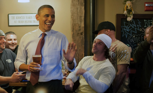 What does Obama eat on election day?