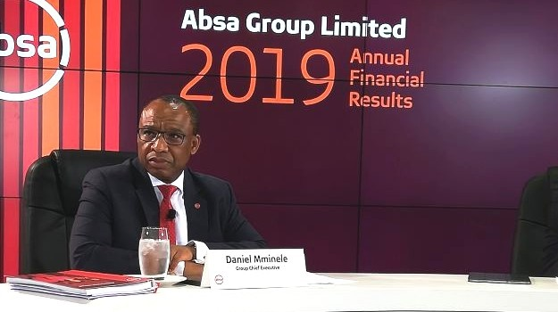 Absa CEO, Daniel Mminele during the presentation of the bank's results in Sandton.