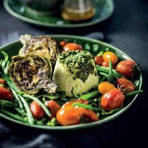 recipe, green beans, roast, tomatoes,ricotta