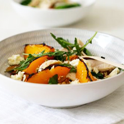 Roast chicken and grilled peach salad | Food24