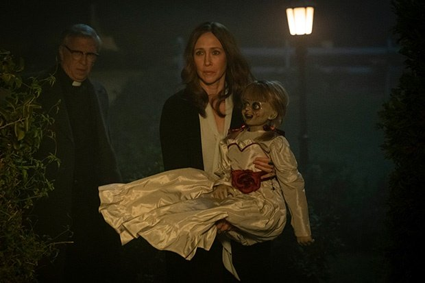 Vera Farmiga in a scene from Annabelle Comes Home.
