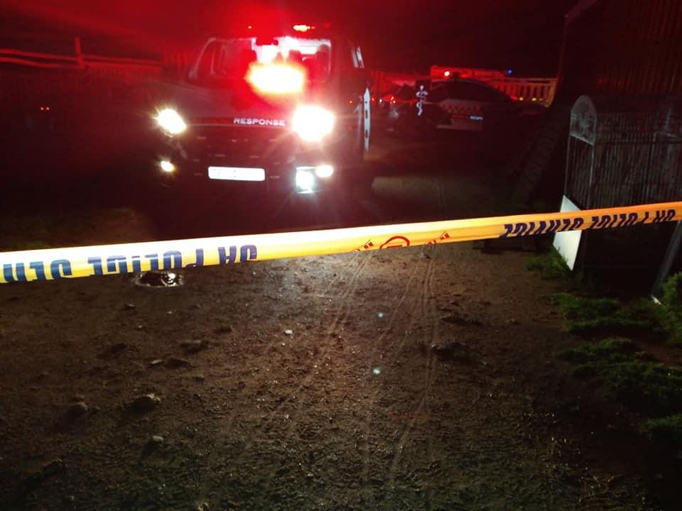 The scene where three people were shot in a farm attack in the Western Cape.