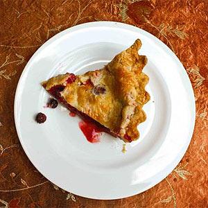 Blueberry and strawberry pie festive recipe