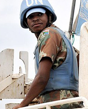UN peacekeeper (Picture: Supplied)