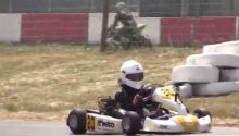 WATCH: Former go-kart champ races his 11 year-old son!