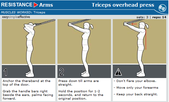 triceps overhead press