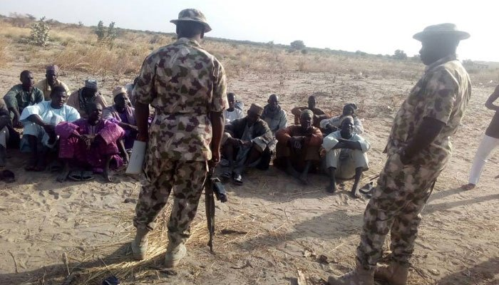 Army and arrested suspected members of Boko Haram