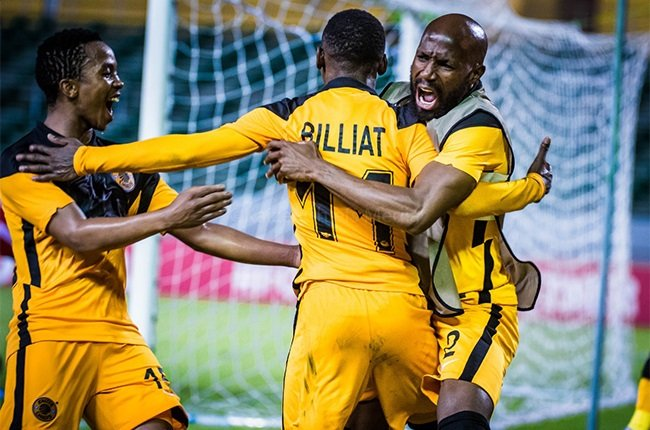 Kaizer Chiefs' Khama Billiat celebrates scoring in the CAF Champions League. (Supplied)