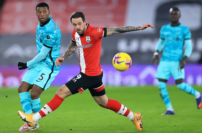 Southampton's Danny Ings against Liverpool