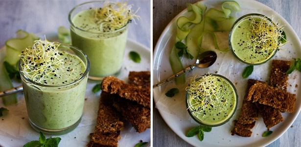 recipe, cucumber, pea, yoghurt, soup,summer,starte