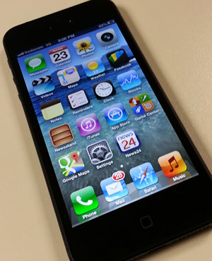 The iPhone 5 is the latest device from Apple. (Duncan Alfreds, News24)