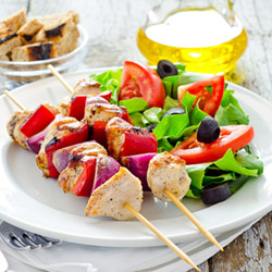 Chicken and vegetable skewer recipe
