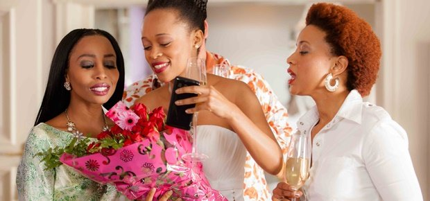 Renate Stuurman, Mmabatho Montsho and Khanyi Mbau in Happiness is a Four-Letter Word (Ster-Kinekor)