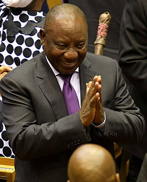President Cyril Ramaphosa after delivering his maiden State of the Nation Address (Photo: Jeffrey Abrahams, Gallo Images)