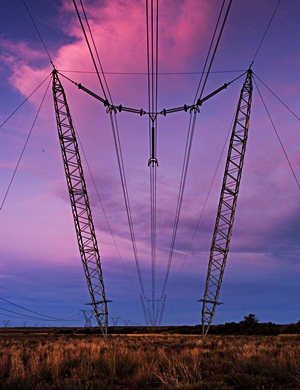 Electricity pylons in Beaufort West. Nersa is holding public hearings on Eskom's proposed revenue price determination. (Picture: Chris Kirchhoff/MCSA)
