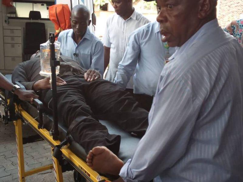 senator dino melaye hospitalised after jumping fro