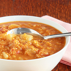 pink lentil curry